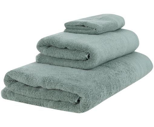 Handtuch-Set Premium, 3-tlg., Salbeigrün