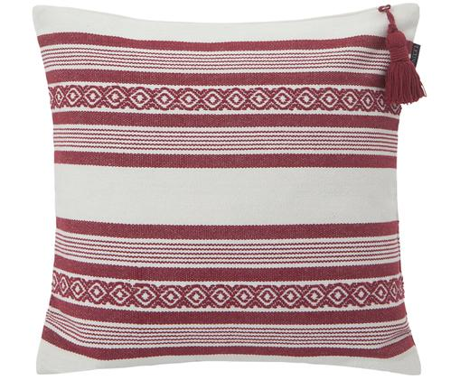 Kissenhülle Stripes in Rot/Weiß, Weiß, Rot