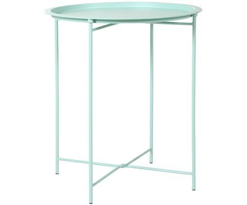Tablett-Tisch Sangro aus Metall, Grün