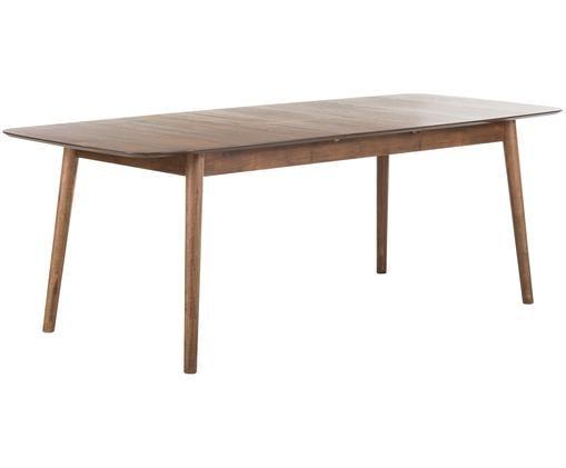 Table extensible Montreux, Plateau: noyer Pieds: teinté brun foncé