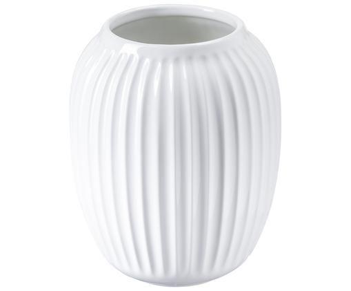 Jarrón artesanal de diseño Hammershøi, Blanco