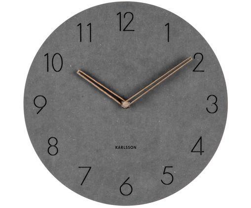 Zegar ścienny Dura, Ciemnyszary, brązowy