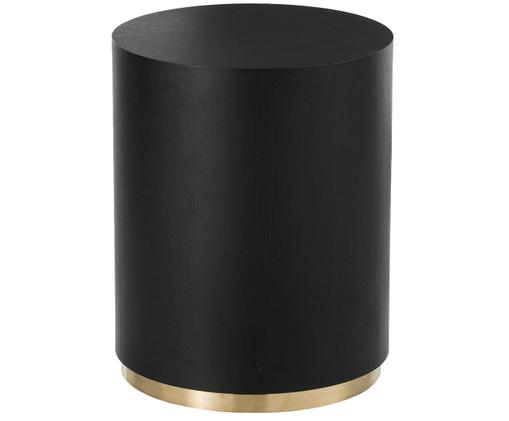 Beistelltisch Clarice in Schwarz, Korpus: Eschenholz, schwarz lackiertFuß: Goldfarben