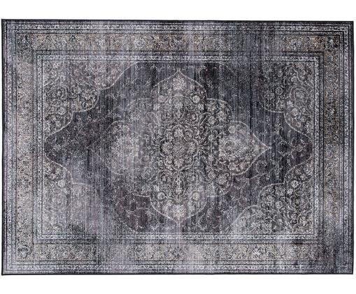 Vintage Teppich Rugged in Anthrazit, Anthrazit