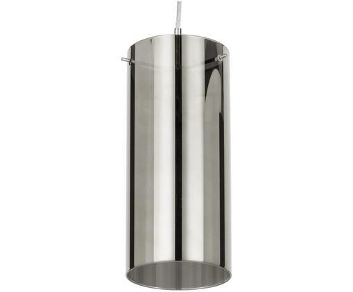 Lampada a sospensione Storm, Paralume: grigio argento, trasparente Fissaggio e baldacchino: nichel