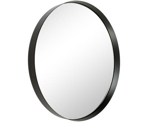 Miroir mural Metal, Cadre: noir Verre miroir