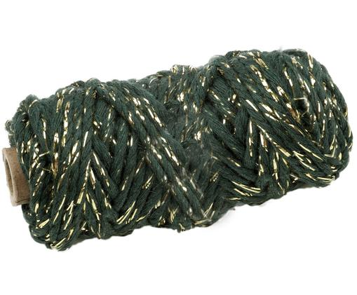 Geschenkschnur Twist, Grün, Goldfarben