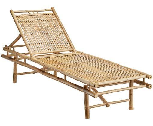 Leżak ogrodowy z bambusa Mandisa, Drewno bambusowe