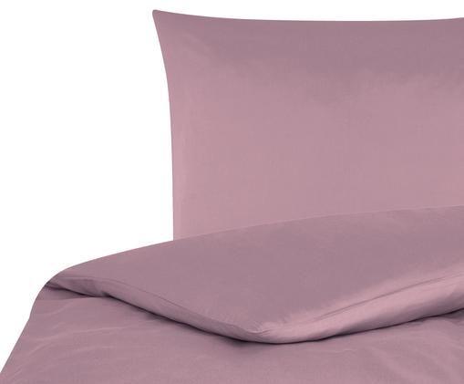 Katoensatijnen dekbedovertrek Comfort, Mauve