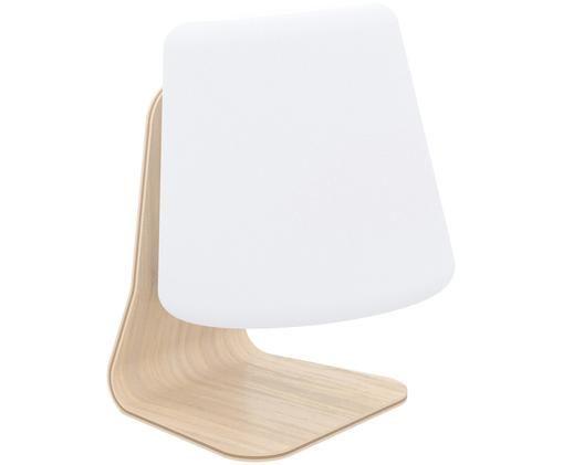 Mobiele LED buitenlamp met luidspreker Table, Wit, lichtbruin