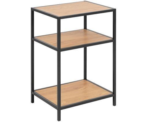 Tavolino d'appoggio Seaford, Quercia selvatica, nero