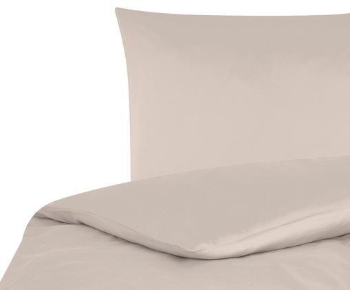 Baumwollsatin-Bettwäsche Comfort, Taupe