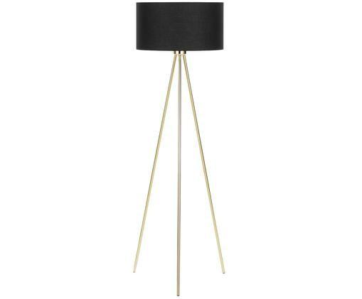 Lampadaire Cella, Noir, couleur dorée