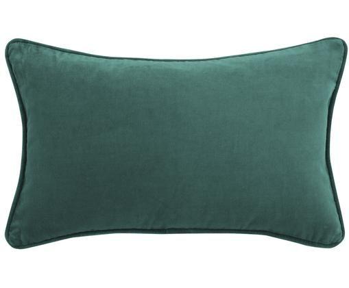 Federa arredo  in velluto Dana, Verde smeraldo