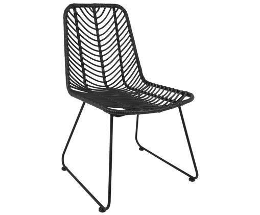 Polyrattan-Stuhl Providencia, Schwarz