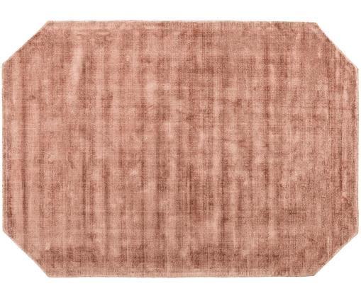 Viscose vloerkleed Jane Diamond, Terracottakleurig