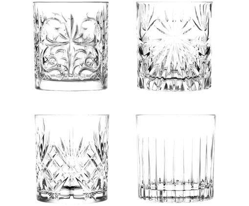 Kryształowy komplet szklanek do whisky Bichiera, 4 elem., Transparentny