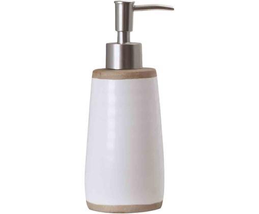 Dozownik do mydła Rustic, Biały, brązowy