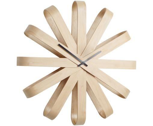Zegar ścienny Ribbon, Drewno bukowe, antracytowy