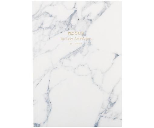 Carnet de notes White Marble, Blanc