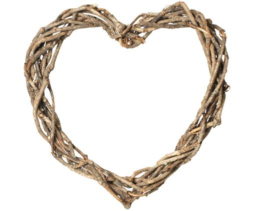 Cuore decorativo in rattan Heart, Marrone
