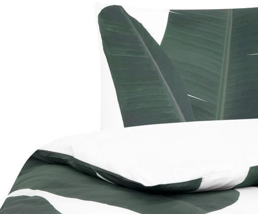 Perkal-Wendebettwäsche Banana, Vorderseite: GrüntöneRückseite: Weiß, Uni
