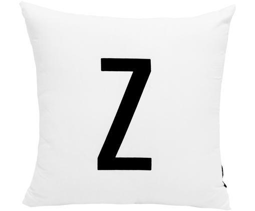 Kussenhoes Alphabet (varianten van A tot Z), Wit met zwarte vlekken