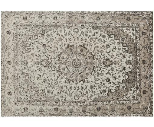 Ręcznie tkany dywan szenilowy Sofia, Beżowy, szary