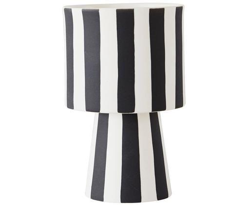 Porta vaso Toppu, Bianco, nero