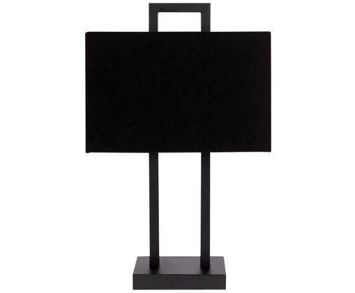 Tafellamp Annelie, Frame: zwart. Lampenkap: zwart