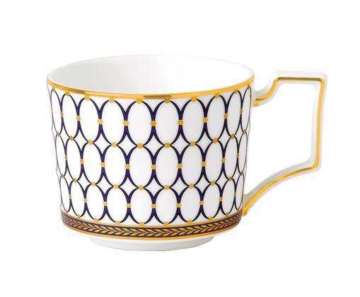 Tasse à thé Renaissance Gold, Blanc, bleu, or