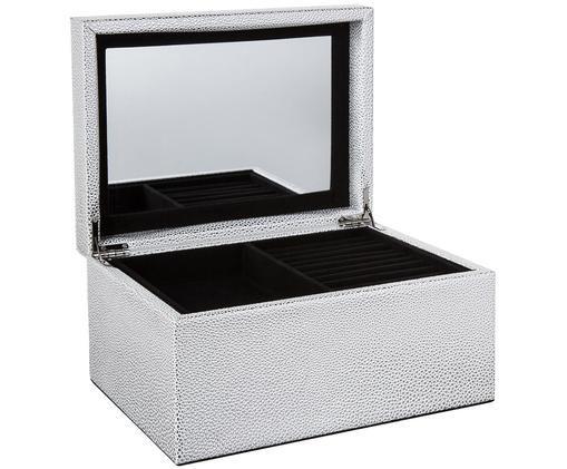 Schmuckbox Megan mit Spiegel, Silberfarben