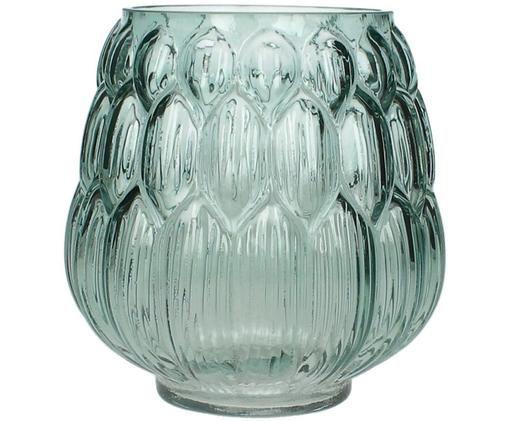 Glas Vase Berry in Petrol, Petrol
