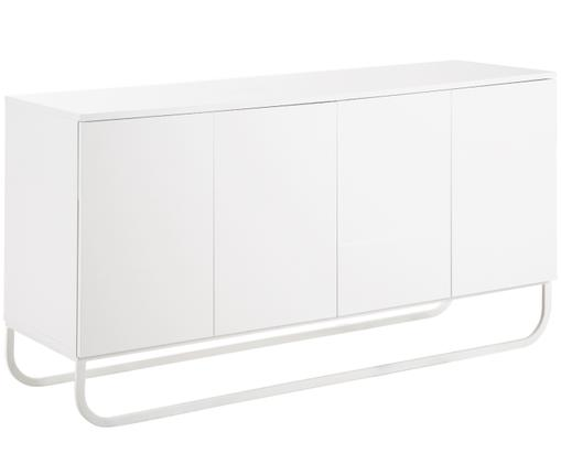Klassisches Sideboard Sanford in Weiß, Korpus: Weiß, mattFußgestell: Weiß, matt