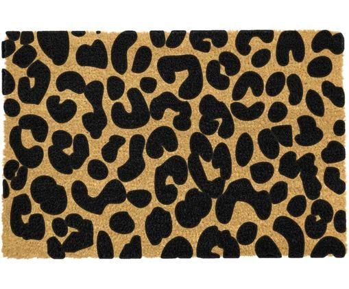 Zerbino Leopard, Beige, nero