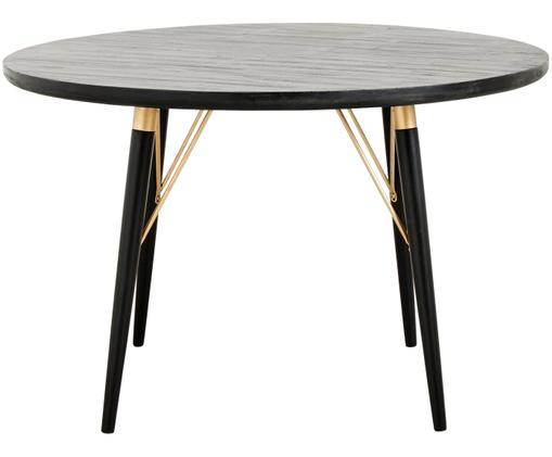 Eettafel Karina, Zwart, goudkleurig