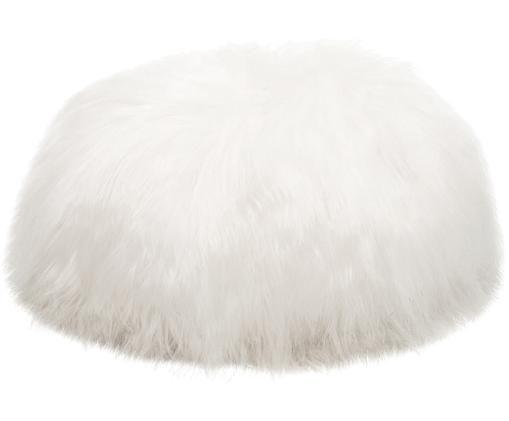 Puf de piel de oveja Icelandic, Blanco