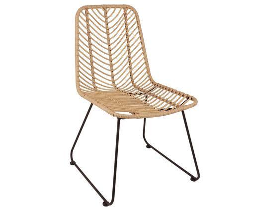 Polyrattan-Stuhl Providencia, Braun