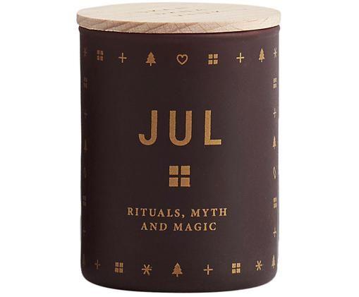 Candela profumata Jul (pan di zenzero, miele e chiodi di garofano), Bordeaux coperchio: legno di faggio