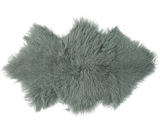 Langhaar-Schaffell Curly, gelockt, Grün