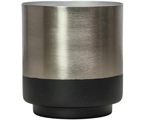 Porta vaso Aria, Argentato, nero