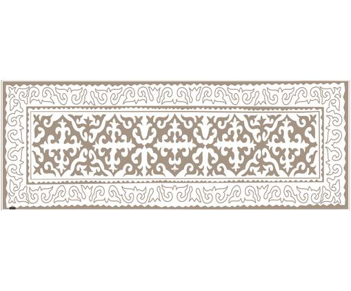 Tappetino in vinile Aksana, Taupe, bianco