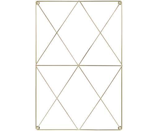 Rooster hangbord Hexagon, Messingkleurig