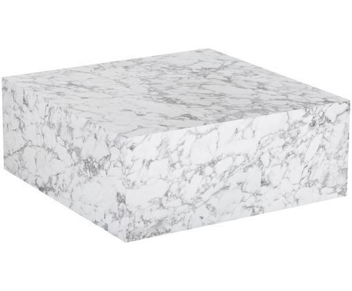 Couchtisch Lesley in Marmoroptik, Weiß, marmoriert