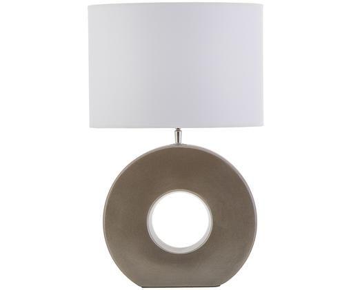 Keramik-Tischleuchte Aron, Grau, Weiß