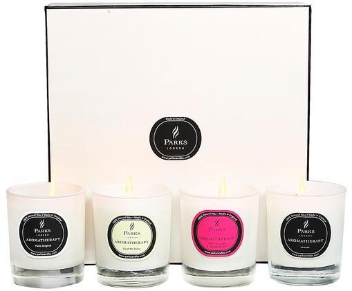Komplet świec zapachowych Aromatherapy, 4 elem., Wielobarwny