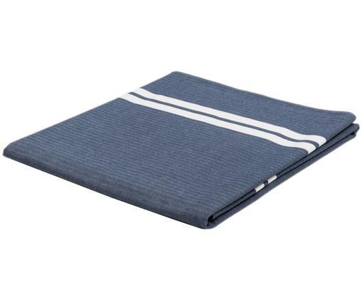 Obrus Striped, Niebieski, biały