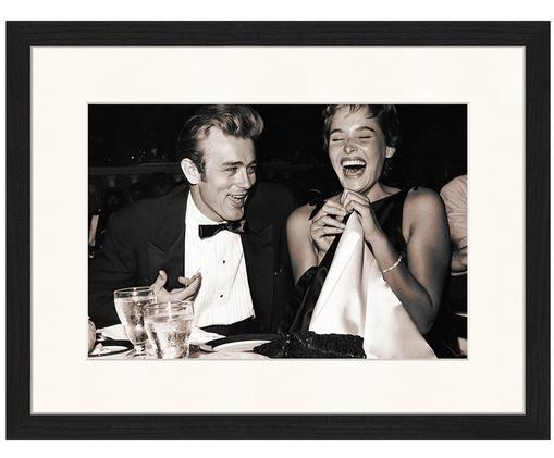Stampa fotografica incorniciata Pier Abgeli e James Dean, Immagine: Sepia Cornice: nero