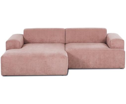 Cord-Ecksofa Marshmallow (3-Sitzer), Rosa