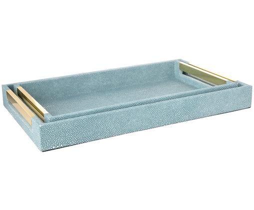 Deko-Tablett-Set Megan, 2-tlg., Blau